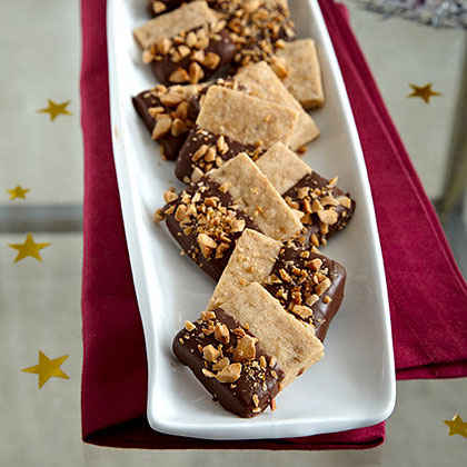 Chocolate-Dipped Almond Shortbread