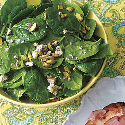 Baby Spinach Salad with Blue Cheese