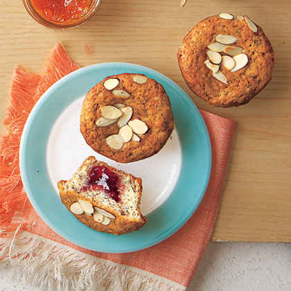 Jam-Filled Poppy-Seed Muffins