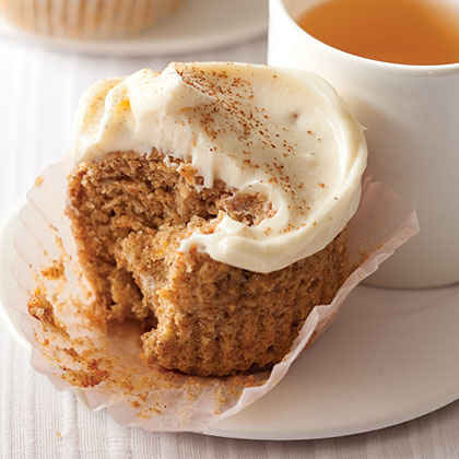 Whole-Wheat Banana-Carrot Cupcakes