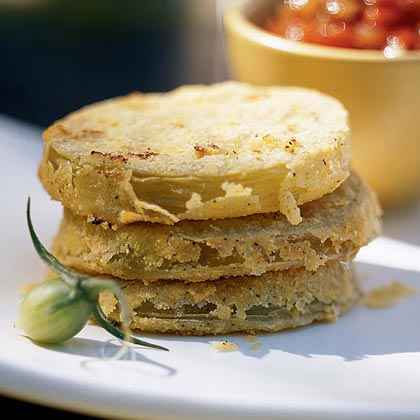 Unfried Green Tomatoes with Fresh Tomato Gravy