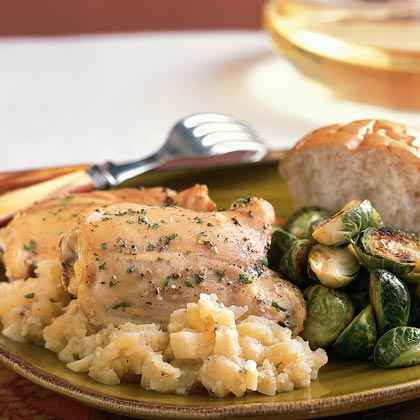 Rustic Chicken and Apples Dinner