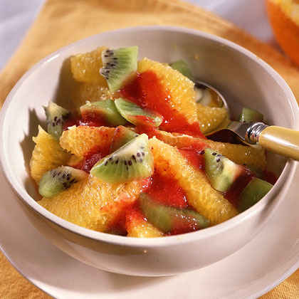 Fresh Fruit with Strawberry Sauce