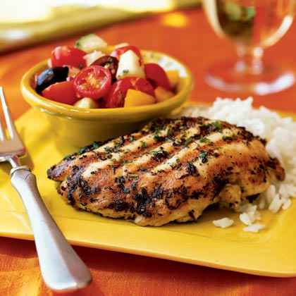 Quick Grilled Chicken Menu