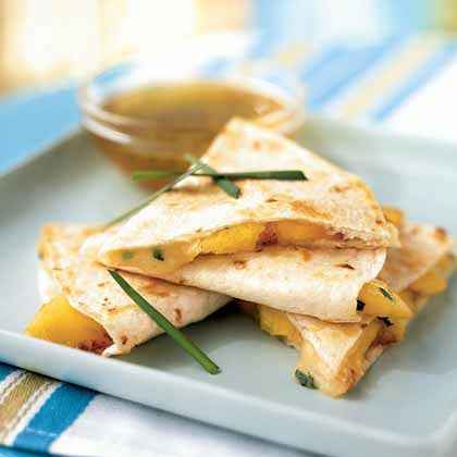 Peach and Brie Quesadillas