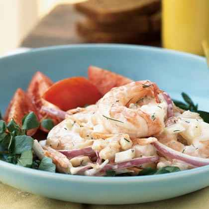Shrimp and White Bean Salad with Creamy Lemon Dill Dressing