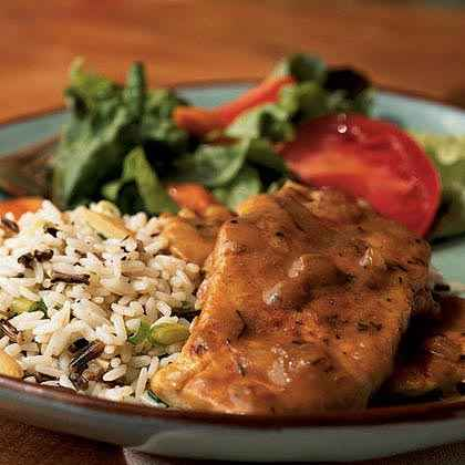 Smothered Pork Chops with Thyme
