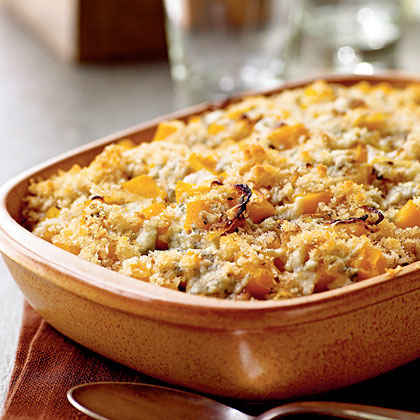 Butternut Squash Gratin with Blue Cheese and Sage