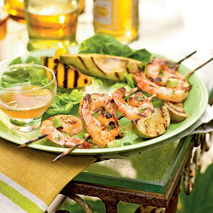 Grilled Shrimp, Mango and Avocado