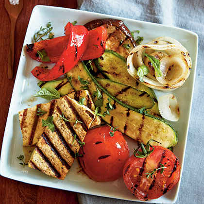 Grilled Tofu with Ratatouille Vegetables