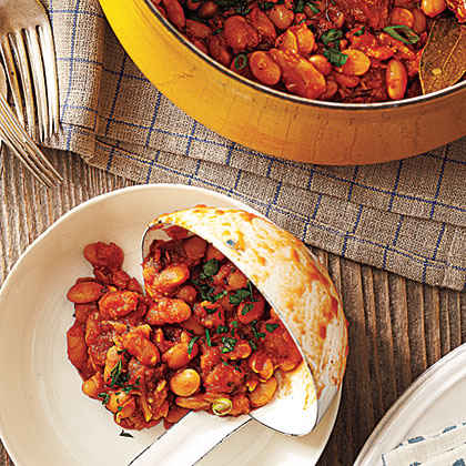 Smoky Baked Beans with Chorizo