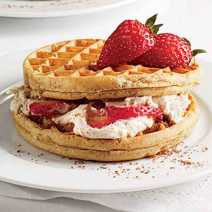 Cream Cheese Waffle Sandwiches