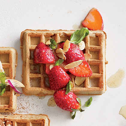 Berry and Browned Butter Waffle