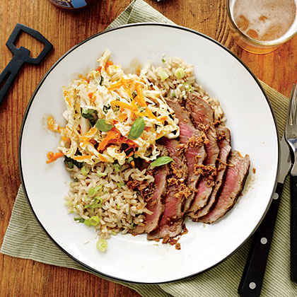 Ginger Steak and Sesame Brown Rice