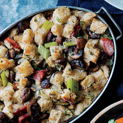 Linguiça Sausage Stuffing with Mushrooms