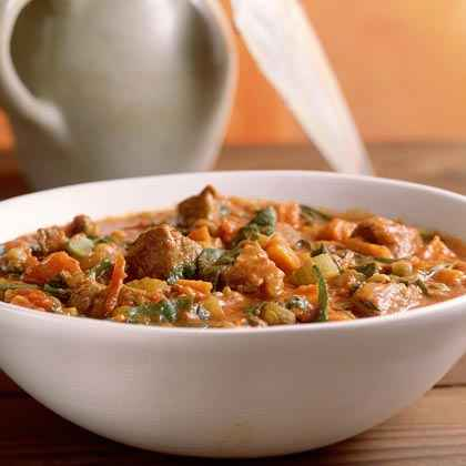 Curried Lamb-and-Lentil Stew