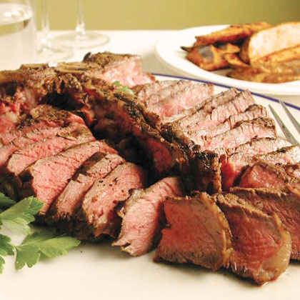 Steak with Grilled Fries