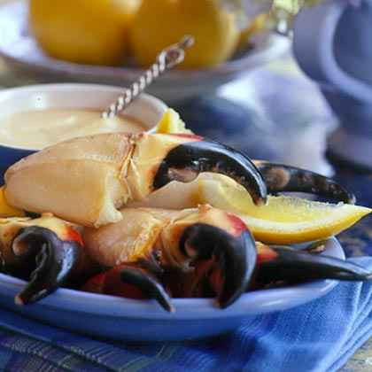 Stone Crab Claws with Mustard Sauce