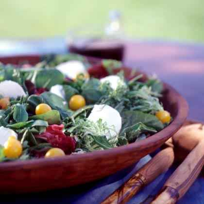 Greens with Maple-Balsamic Dressing
