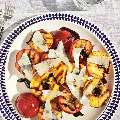 Grilled Stone Fruit with Balsamic Glaze