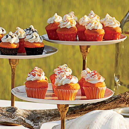 Mini Orange Creamsicle Cupcakes