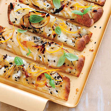 Cheesy Caramelized Onion Flatbreads