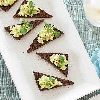 Curried Egg Salad Toasts