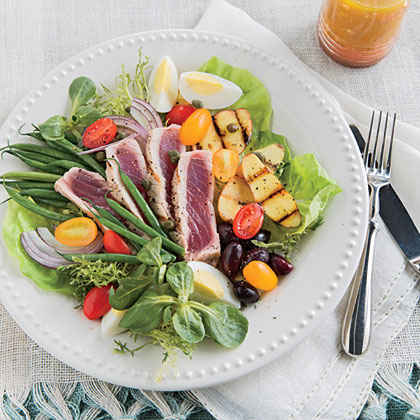 Grilled Tuna Salad Niçoise