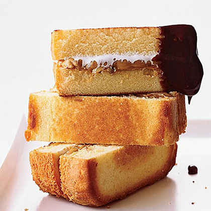 Peanut Butter Pound Cake S'mores