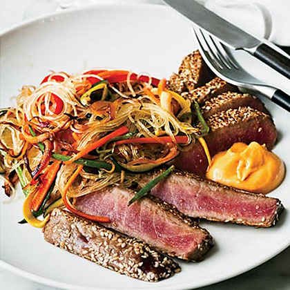 Sesame-Crusted Tuna with Ginger Cream