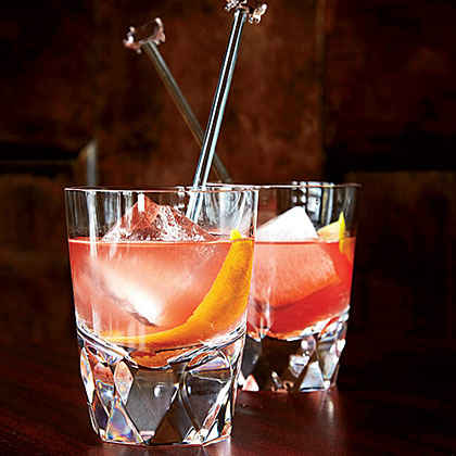 Gin-Campari Old-Fashioned