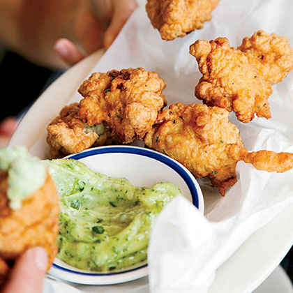 Lobster-and-Corn Fritters