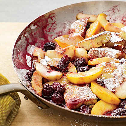 Kaiserschmarrn with Peaches