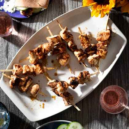 Greek Marinated Chicken Kebabs
