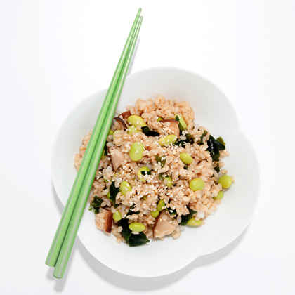 Rice with Edamame and Sea Greens