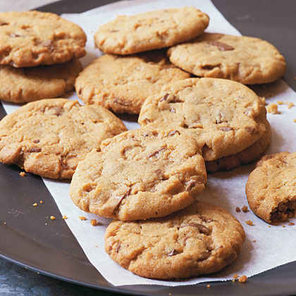 Peanut-Butter-Toffee Chunk Cookies