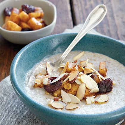 Cream of Buckwheat with Skillet Pears