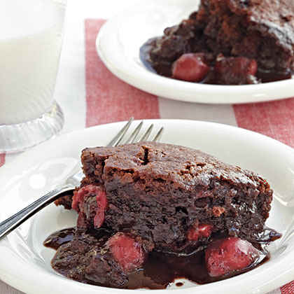 Chocolate-Cherry Pudding Cake