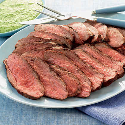 Butterflied Leg of Lamb with Pesto Aioli