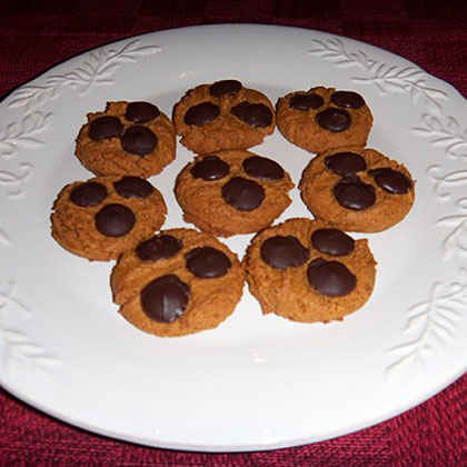 Peanut Butter and Dark Chocolate Chip Cookies