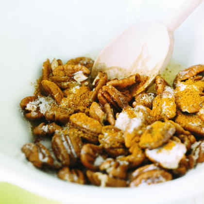 Sugared Curried Pecans