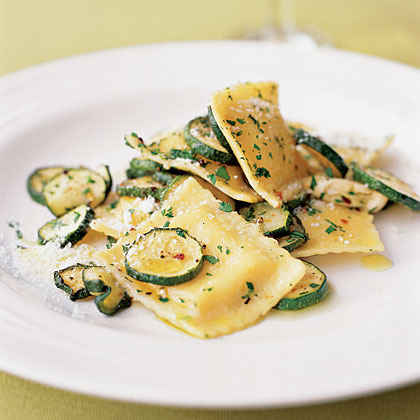 Ravioli with Roasted Zucchini