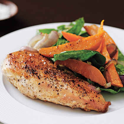 Chicken with Sweet Potato Salad