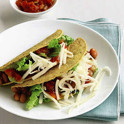 Pinto Bean and Cheese Tacos