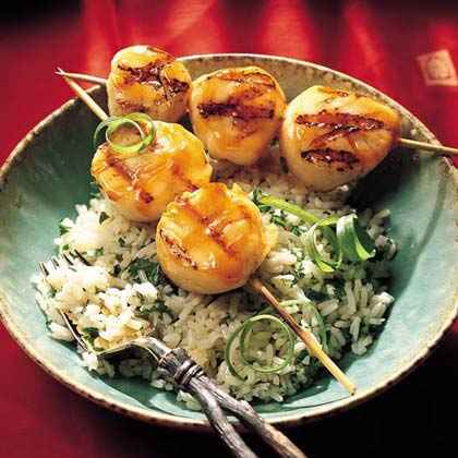 Grilled Sweet-and-Sour Scallops