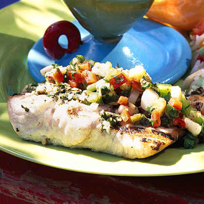 Montego Bay Grilled Fish with Caribbean Salsa