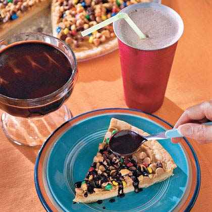 Chocolate-Peanut Butter Pizza