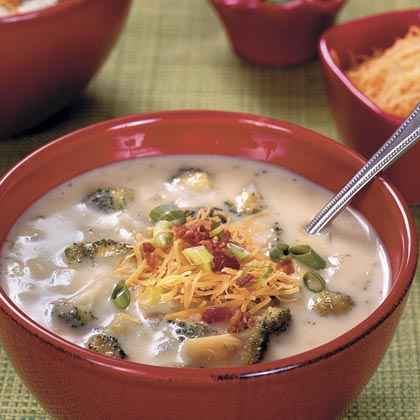 Baked Potato-and-Broccoli Soup