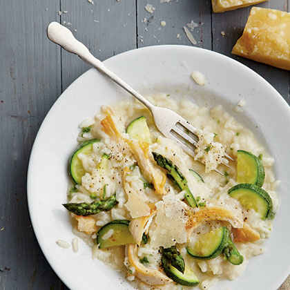 Chicken Risotto with Spring Vegetables