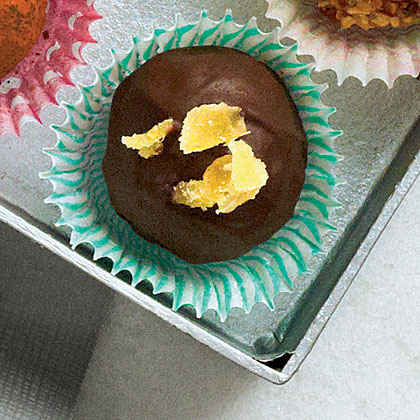 Candied Ginger Pound Cake Truffles